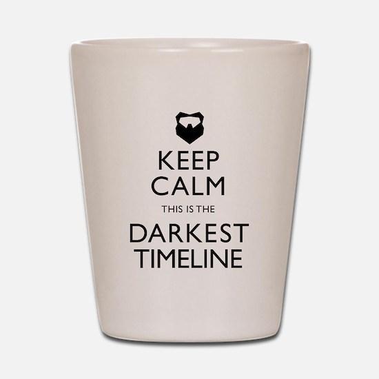 Keep Calm Darkest Timeline Community Shot Glass
