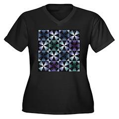 Kaleidoscope Women's Plus Size V-Neck Dark T-Shirt