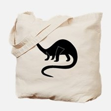 Brontosaurus Silhouette Tote Bag