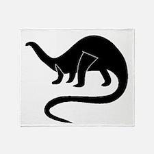 Brontosaurus Silhouette Throw Blanket
