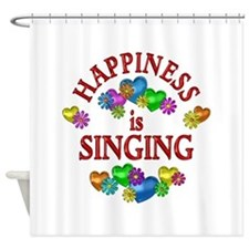 Happiness is Singing Shower Curtain