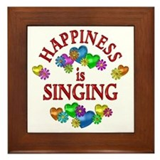 Happiness is Singing Framed Tile