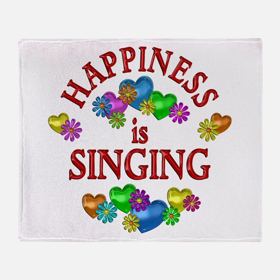 Happiness is Singing Throw Blanket