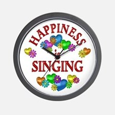 Happiness is Singing Wall Clock