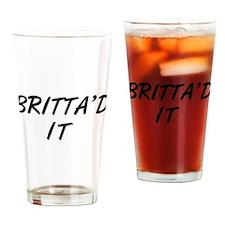 Britta'd It Community Drinking Glass