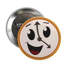 """Happy Clock 2.25"""" Button (10 pack)"""