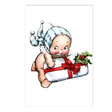 cupie brings a christmas Postcards (Package of 8)