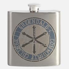 Greendale Community College Vintage Flask