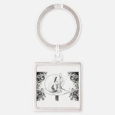 Absalom Swirls Square Keychain