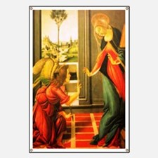 Annunciation St Gabriel And Virgin Mary Banner