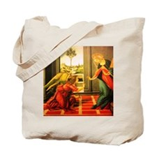Annunciation St Gabriel And Virgin Mary Tote Bag