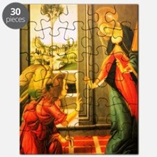 Annunciation St Gabriel And Virgin Mary Puzzle