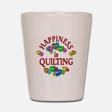 Happiness is Quilting Shot Glass