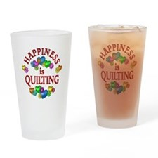 Happiness is Quilting Drinking Glass