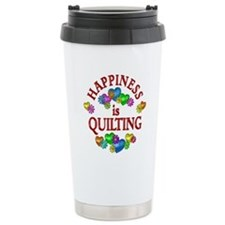 Happiness is Quilting Travel Mug