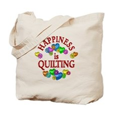 Happiness is Quilting Tote Bag