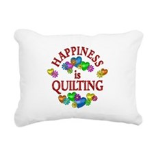 Happiness is Quilting Rectangular Canvas Pillow
