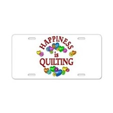 Happiness is Quilting Aluminum License Plate