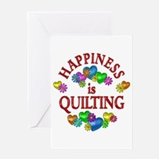 Happiness is Quilting Greeting Card