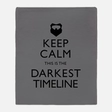 Keep Calm Darkest Timeline Community Throw Blanket