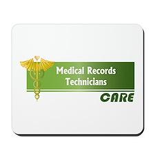Medical Records Technicians Care Mousepad