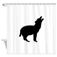 Coyote Howling Silhouette Shower Curtain