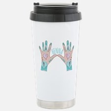 Henna On Hand Travel Mug