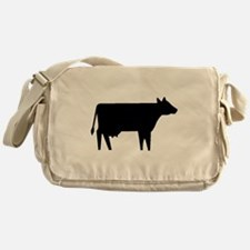 Cow Silhouette Messenger Bag