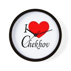 I Love Chekhov Wall Clock