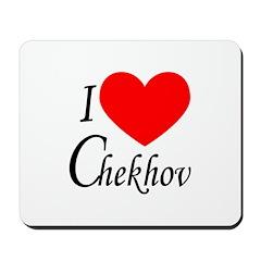 I Love Chekhov Mousepad