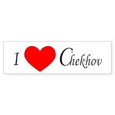 I Love Chekhov Bumper Car Sticker