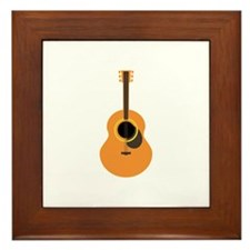 Musical Guitar Framed Tile