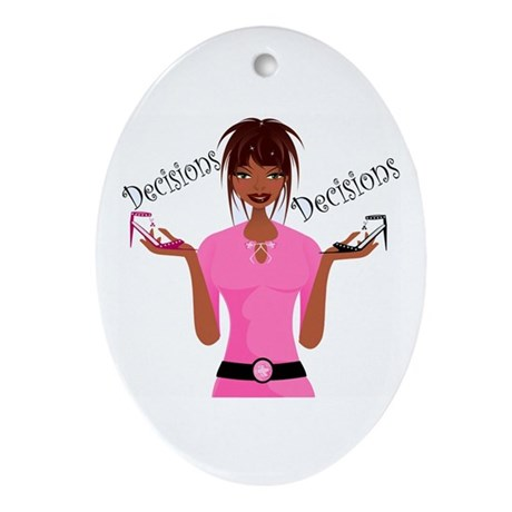 Decisions Decisions Oval Ornament
