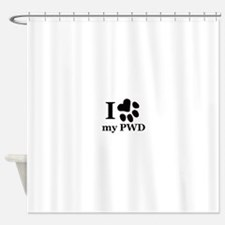 I Love My PWD Shower Curtain