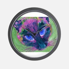 Siamese Psychedelic Wall Clock
