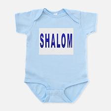 JEWISH SHALOM HEBREW Infant Bodysuit