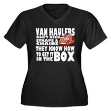 Van Haulers Women's Plus Size V-Neck Dark T-Shirt
