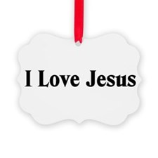 I Love Jesus Picture Ornament