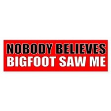 Lying bigfoot Bumper Bumper Sticker