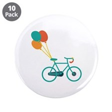 "Balloon Bike 3.5"" Button (10 pack)"