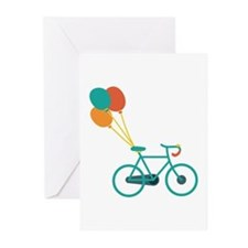 Balloon Bike Greeting Cards