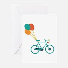 Balloon Bike Greeting Cards