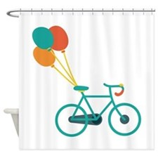 Balloon Bike Shower Curtain
