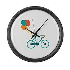 Balloon Bike Large Wall Clock