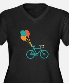 Balloon Bike Plus Size T-Shirt