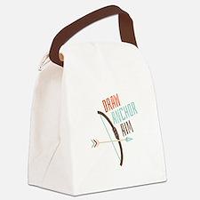 Draw Anchor Aim Canvas Lunch Bag