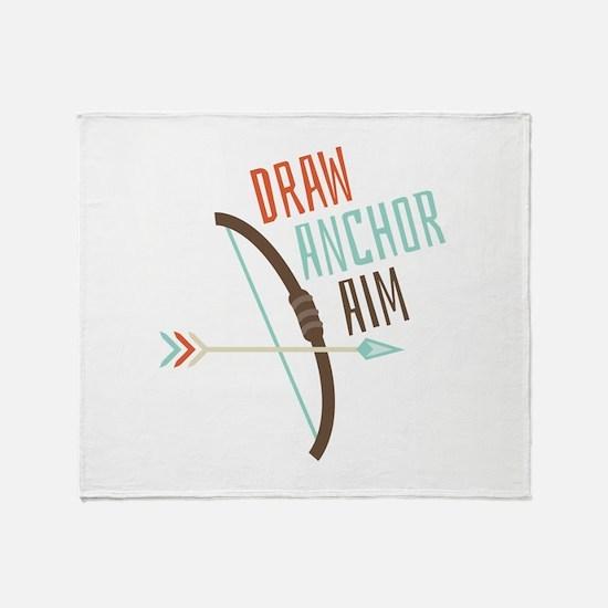 Draw Anchor Aim Throw Blanket