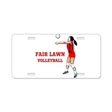 Funny Jersey girl women Aluminum License Plate