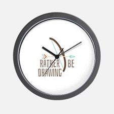 Rather Be Drawing Wall Clock