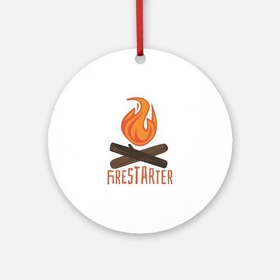 Firestarter Campfire Ornament (Round)